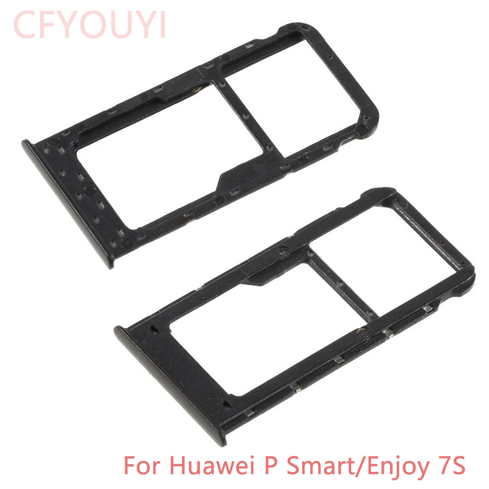 Original Dual SIM Micro SD Card Tray Holder Slot Adapters Replacement Parts For Huawei P Smart/Enjoy 7S