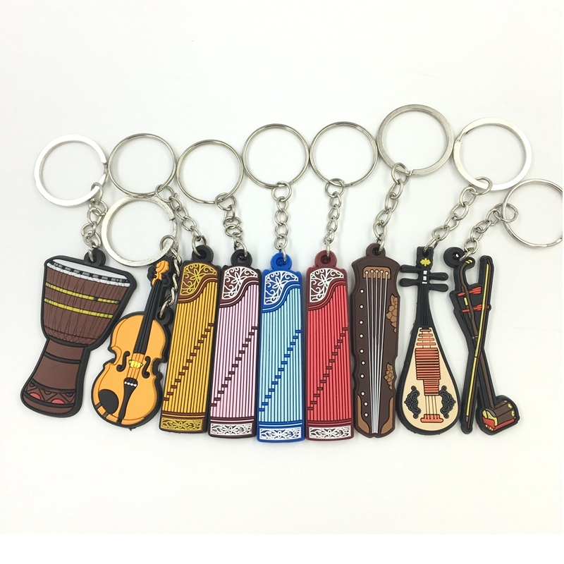 String Instrument Parts Guitar Violin Chinese Lute Pipa Classic Guitar Style Keychain String Instrument Accessories Folk Guitar