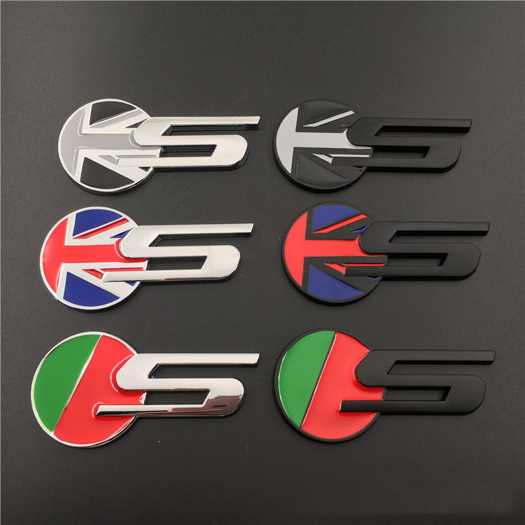S Racing Grille Badge Decal Emblem Sticker For JAGUAR XF XJ XJS XK S-TYPE