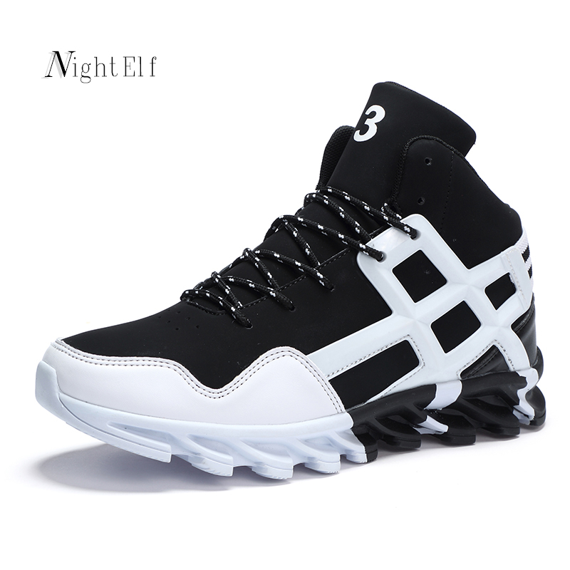 Night Elf men running shoes for men breathable sport shoes add plush winter men sneakers high quality high cut trainers shoes
