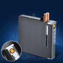 Чехол для 20 сигарет тонкая металлическая Автоматическая сигарета