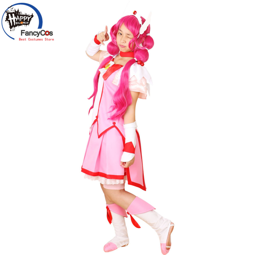 Halloween Smile PreCure! Glitter Force Glitter Lucky Cure Happy Dress wig Cosplay Costume Adult Deluxe High Quality Custom Made
