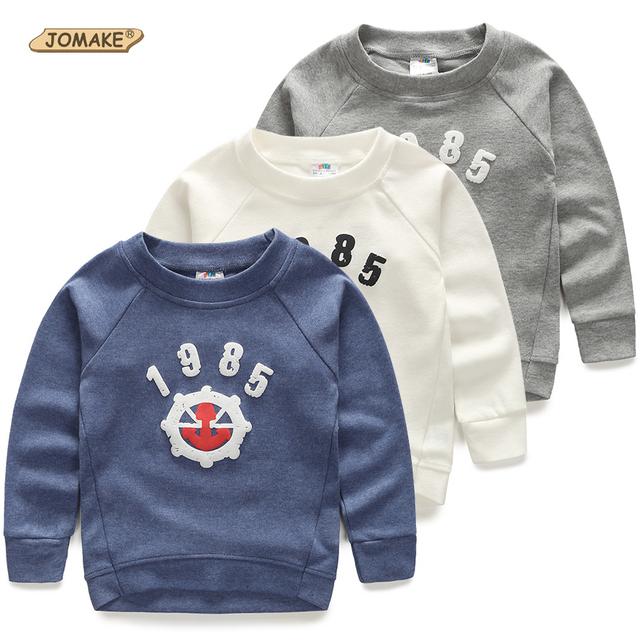 Roupas novas Chegada das Crianças Meninos/Meninas Moda Camisola 1985 Hoodies Impressão Crianças Da Moda Outono Assentamento Camisa Do Bebê Casuais