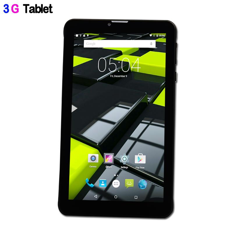 Prix pour Nouveau design 7 Pouce 3G Appel Téléphonique Quad Core IPS LCD Android 5.1 Sucette Comprimés pc WiFi Bluetooth FM 8 GB Mini Pad SIM Carte téléphone