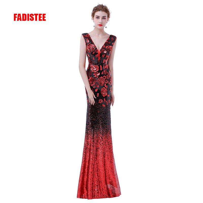 FADISTEE elegant party dress Prom Dresses Long dress Vestido de Festa mermaid sequined long sexy backless