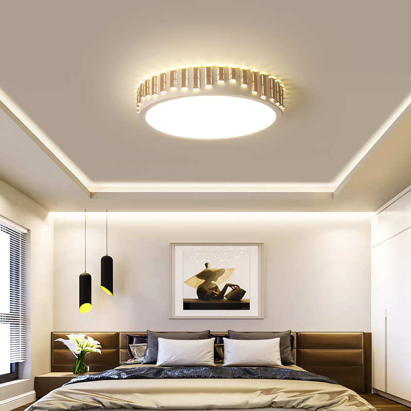 Modest Crystal Led Dome Light Living Room Lamp Modern Bedroom Lamp Room Lamp Round Ceiling Light Remote Control Light Fixture Ceiling Lights