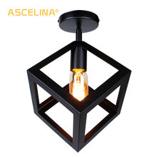 Vintage Ceiling Lamp Industrial ceiling light rectangle Ceiling Lighting triangle LED ceiling lights American country Fixture