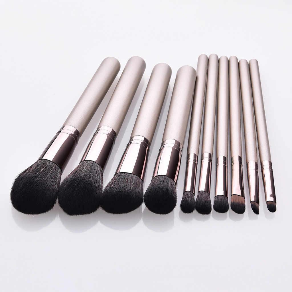Maquillage brosses ensemble professionnel 10 pièces Fondation Pinceaux Correcteurs Sourcils Fard À Paupières Brosse Maquillage Brosse Ensembles Outils Y524