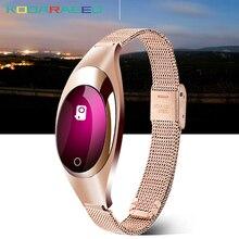 Z18 Relógio Inteligente Monitor de Pressão Arterial e Freqüência Cardíaca Pedômetro Rastreador De Fitness relógios Para Android IOS telefone Mulheres Amigo Presente Da Menina