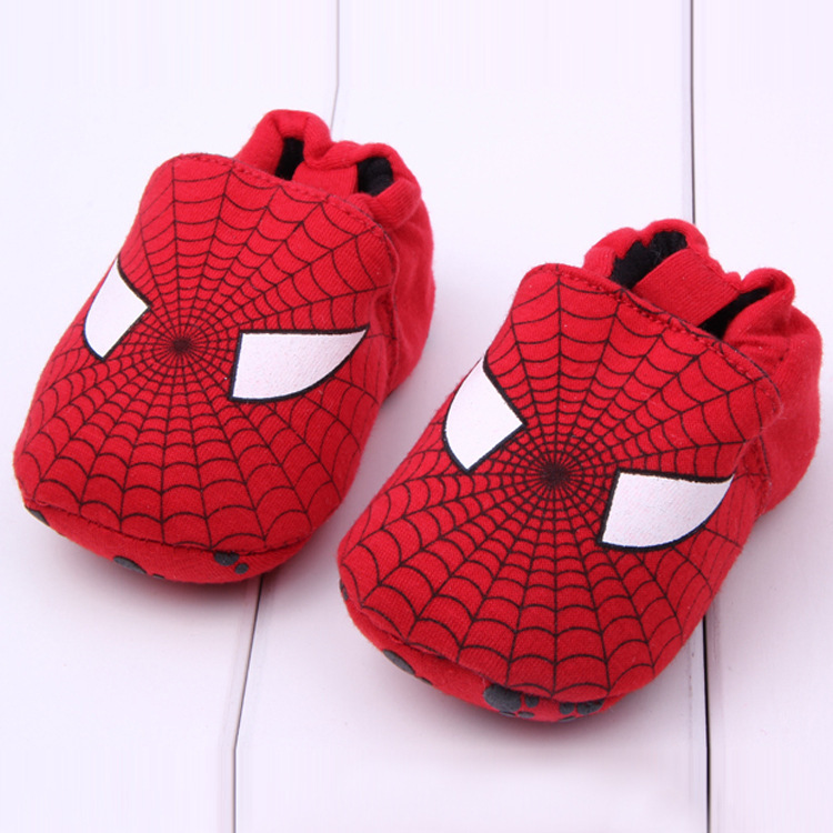 J.G Chen Retail 1pcs baby shoes for boy red spiderman baby cotton toddler shoes 11-13cm for baby infant kids child first walker