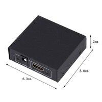 10 шт. HDCP 1080 P 1 в 2 из HDMI Splitter усилитель двойной Дисплей для HDTV DVD PS3