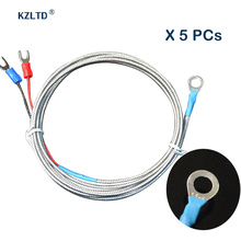 Wholesale 5PCs/Lot Temperature Controller Sensor Probe K Type Thermocouple Surface Thermocouple Probe M6 Stud