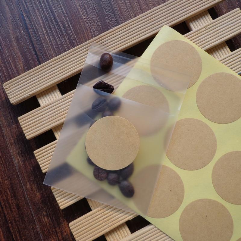 102pcs Round Blank Kraft Seal Sticker DIY Multifunction Paper Labels for Handmade Product, Self-Adhe
