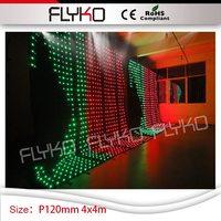 Профессиональное освещение P12cm Гибкая панель мягкий ХХХ видео занавес 4 м * 4 м