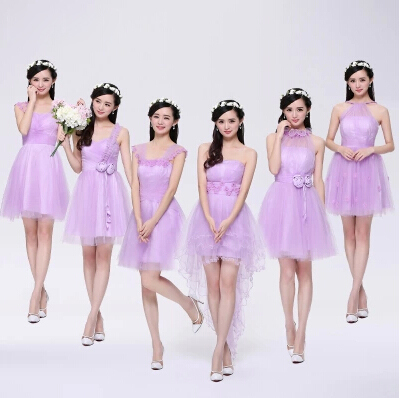 Light Purple Bridesmaid Dress Lavender Wedding Party Knee Length Skater Dresses In From Weddings Events On Aliexpress Alibaba