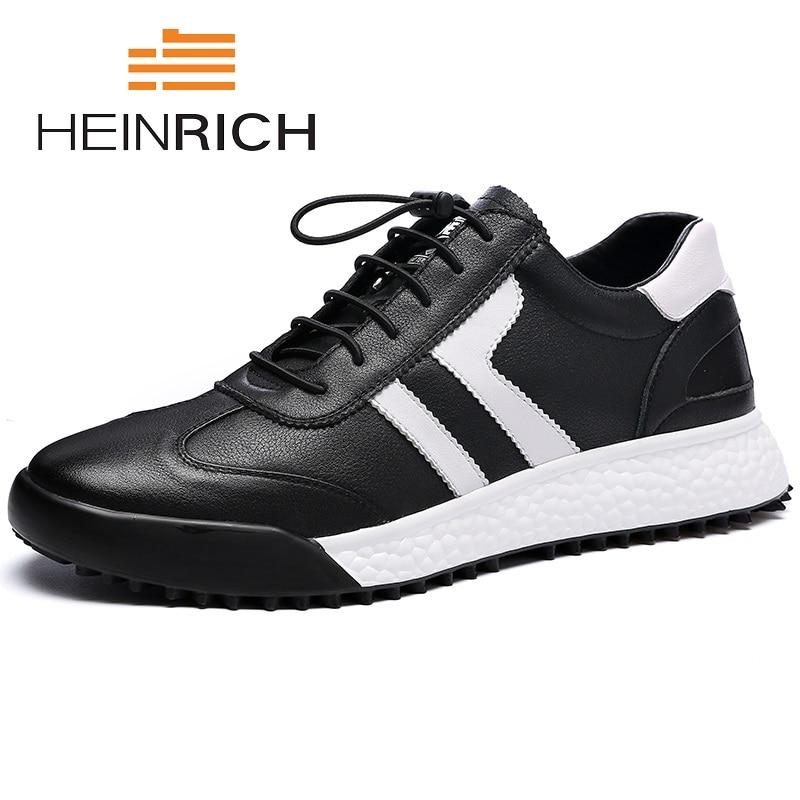 ce7e20245297b Rojo Nueva Blanco Clásico De Negro Cuero Negro Zapatos rojo Heinrich  Masculinos Casuales Moda Suave Los Tenis Zapatillas blanco Hombres Marca  1qdWOwR