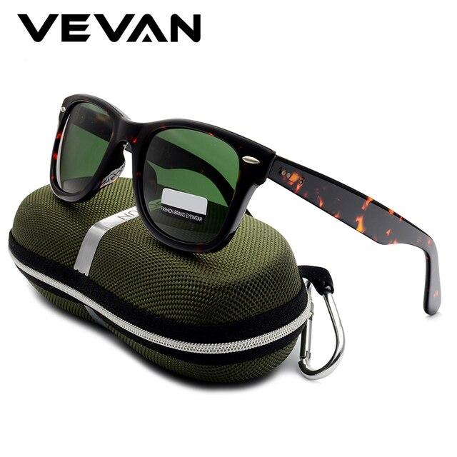VEVAN Green Glass Lenses Luxury Sunglasses Women Brand designer Acetate Frame Sun glasses For women Multi Color Square Eyewear 2