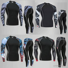 Mens Compression Shirts 3D Wolf Teenager T-shirts Long Sleeve T Shirt Men Lycra MMA Crossfit Gym Brand Clothing Tights