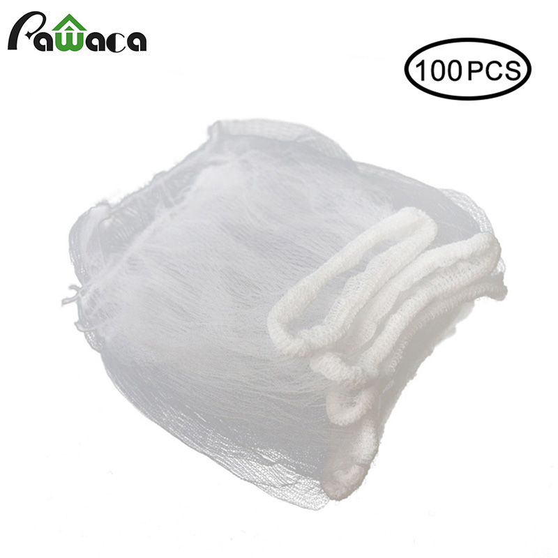 100/50/30pcs Kitchen Sink Filter Sink Drain Hole Trash Strainer Bag Mesh Strainer Disposable Garbage Bag Filter Wash Basin Bag