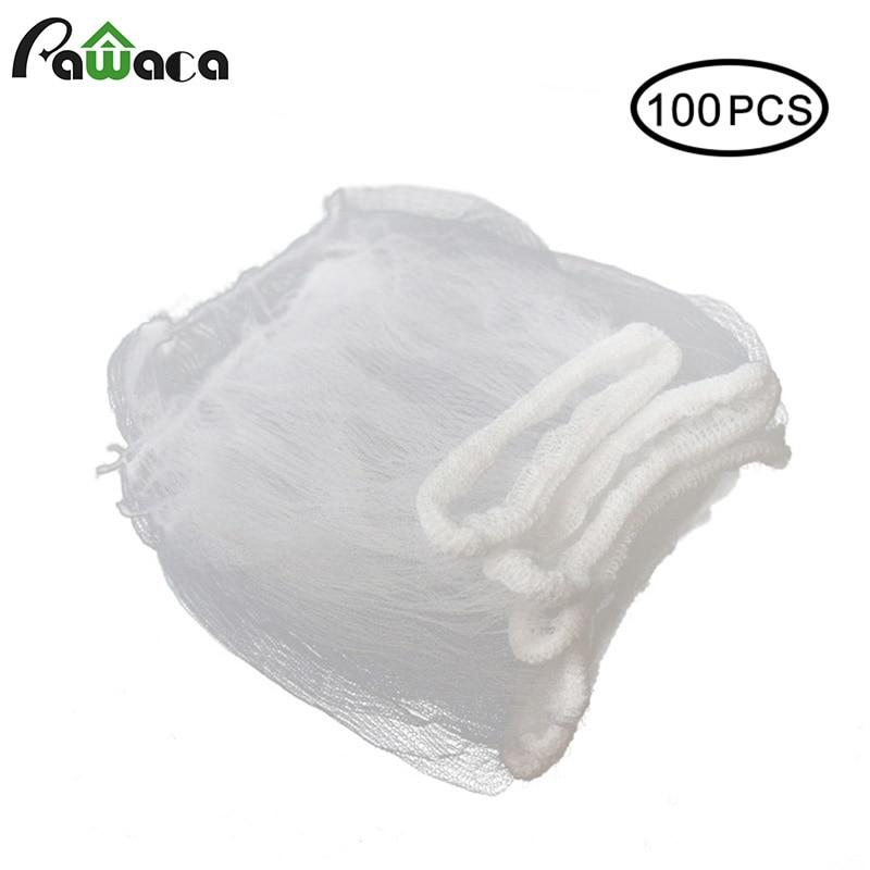 100/50/30pcs Kitchen Sink Filter Sink Drain Hole Trash Strainer Bag Mesh Strainer Disposable Garbage Bag Filter Wash Basin Bag