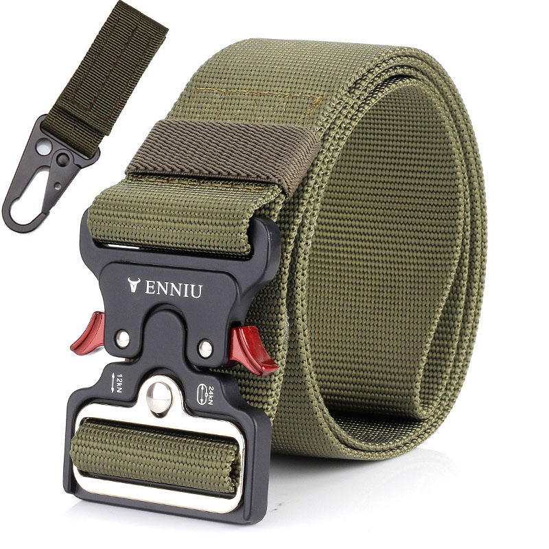Molle Military Army   Belt   Tactical Men   Belt   Gear Survival Nylon   Belt   Metal Insert Buckle Casual   Belt   SWAT Duty Training Strap