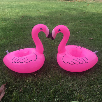 Inflatable Cup Holder Flamingo Cup Holder Inflatable Product Inflatable Water Toy A Single Cup Mat