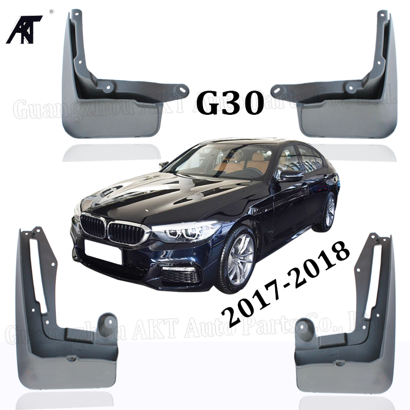 Mud Flap For BMW 5 series <font><b>G30</b></font> <font><b>520i</b></font> 525i 528i 2017 2018 Front Rear Molded Car Mud Flaps Mudflaps Splash Guards Mudguards Fender image