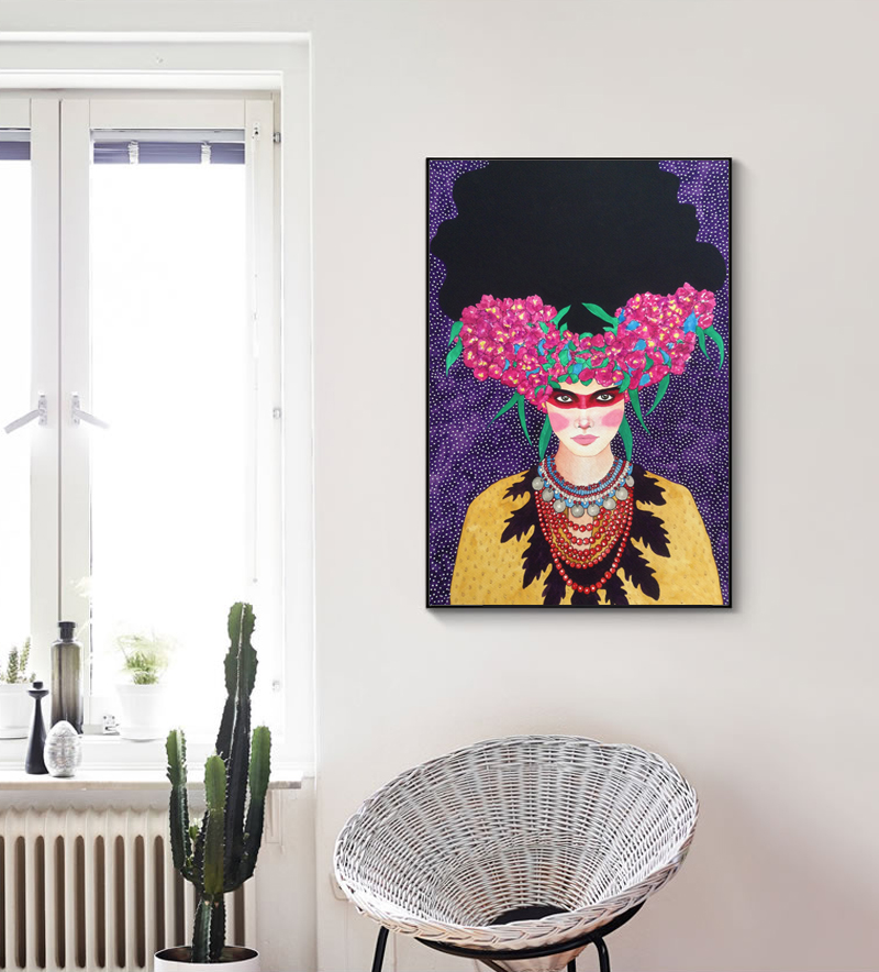 HTB1ti06QcfpK1RjSZFOq6y6nFXav Nordic Modern Style Handdraw Characters Colorful Canvas Painting Poster Print Decor Wall Art Pictures For Living Room Bedroom