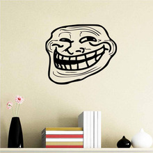 Funny Black Face home decal wall sticker /creative gifts for friends party decoration/ living room decor 3d wallpaper ZY8495