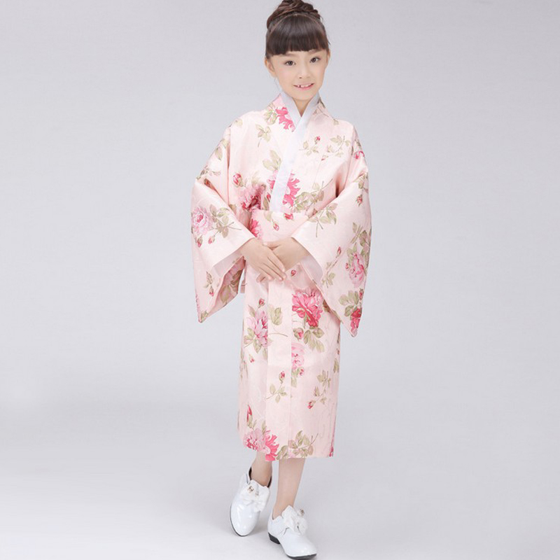 bab79563aa3 Detail Feedback Questions about Promotion Traditional Japanese Baby Girl Kimono  Dress Cute Kid Yukata Obi Stage Dance Dress Child Cosplay Costume Flower B  ...