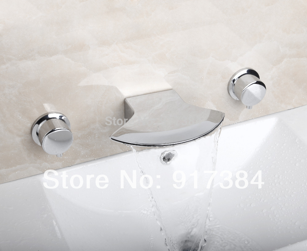Bathtub Hot/Cold Water Deck Mounted Ceramic Double Handles Bathroom Bathtub Basin Sink Mixer Tap 3 pcs Chrome Faucet Set FG-3216 free shipping gold basin faucet deck mounted three piece bathtub faucet bathroom hot and cold tap gz 8123k
