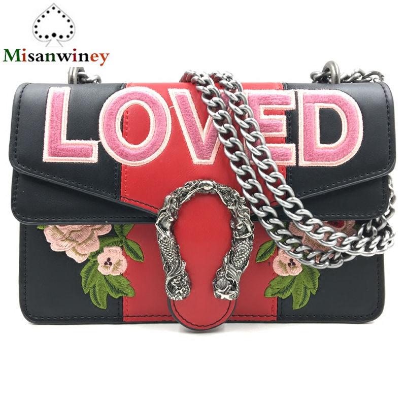 Luxury Brand Chain Casual Shoulder Bag Messenger Bags Retro Flowers Embroidery Bag Women Handbags and Purse Famous Designer Sacs a three dimensional embroidery of flowers trees and fruits chinese embroidery handmade art design book