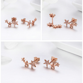 Stackable Sparkling Star Earrings2