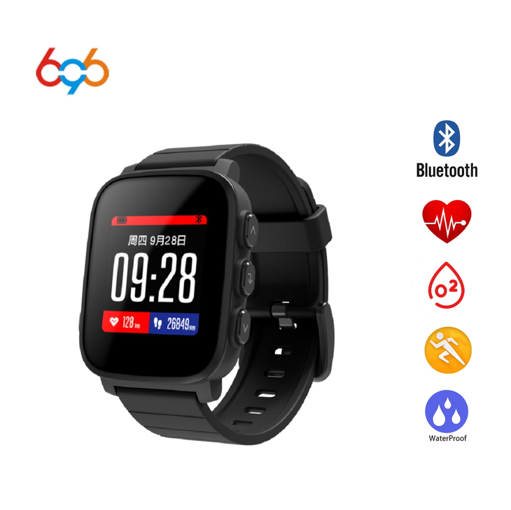 696 Q2 montre intelligente GPS Sport Bluetooth LCD Android Smartwatch IP67 étanche moniteur de fréquence cardiaque Bracelet intelligent pour Android iOs