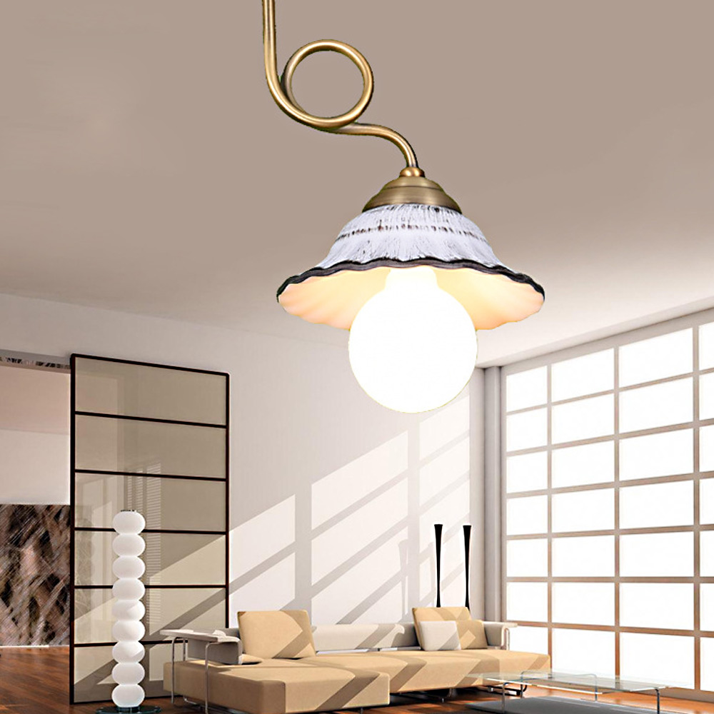 Ceramics And Alloys E27 / E26 Loft RH Industrial Warehouse Pendant Light Restaurant/Bedroom Home Decoration White Color krishen kumar bamzai and vishal singh perovskite ceramics preparation characterization and properties