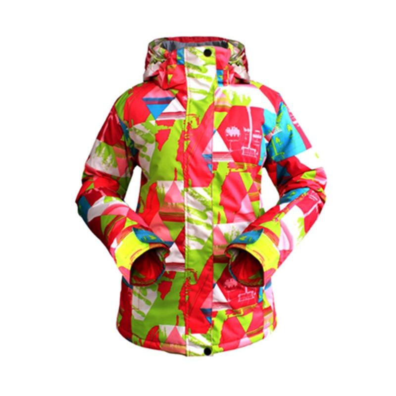 Hiver femmes veste de Ski imperméable coupe-vent vêtements de Ski veste femme respirant chaud Snowboard Sport porter