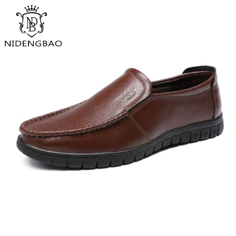 Brand Men Shoes 2018 New Arrivel Breathable Comfortable Men Loafers Luxury Mens Flats Men Casual Shoes Slip-On Leather Shoe