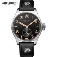 Original AGELOCER Brand Men Authentic Pilot Male Watch Costly Waterproof 100M Auto Date Outdoor Men Shockproof