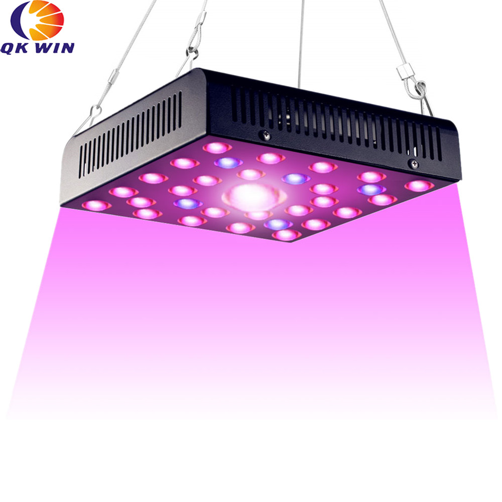 Germany Shipping Qkwin High End COB LED GROW LIGHT 600W Real 110W Cree COB Light And Double Chip Led Fullspectrum With Dual LENS