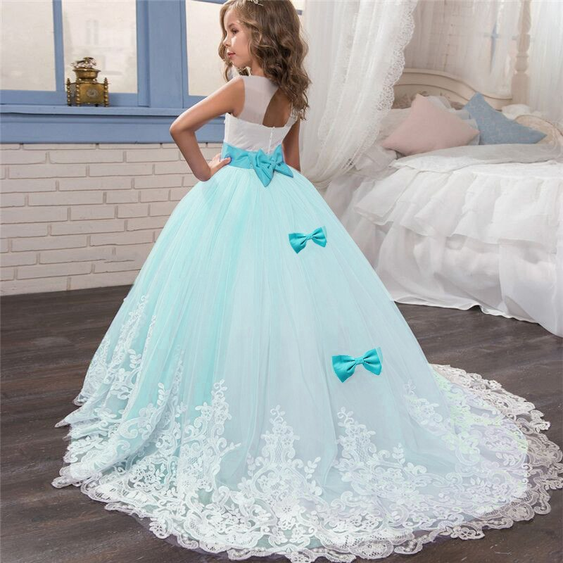 Princess Girls Formal Party Dress Kids Flower Dresses for Girls Wedding Evening Clothing Girls Party Prom Ball Gown