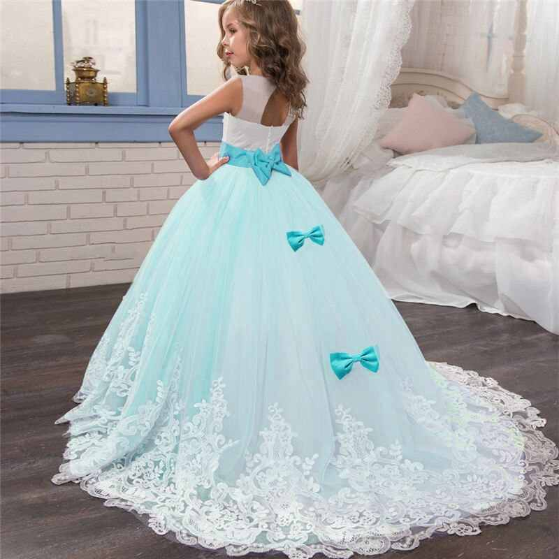Princess Girls Formal Party Dress Kids Flower Dresses for Girls Wedding  Evening Clothing Girls Party Prom Ball Gown Size 6,14T