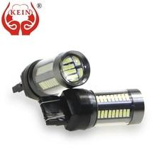 цена на KEIN 2PCS w21w T20 7440 led 7443 w21/5w 4014 66SMD car auto reverse bulbs brake DRL turn signal tail HD 7440 led Lights Lamp 12V