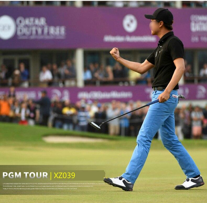 Mens sapatos de golfe PGM conveniente botão