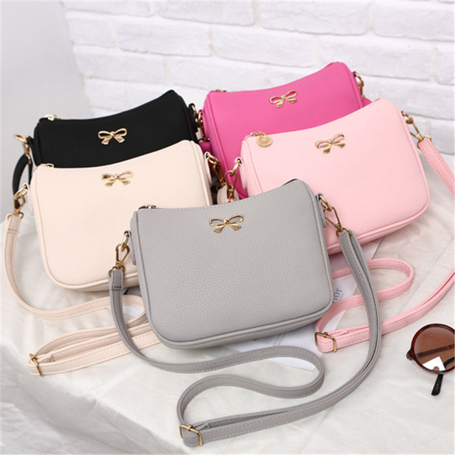 New cute bow shoulder bag female women evening clutch ladie purses and handbag handbags women famous brands women messenger bag