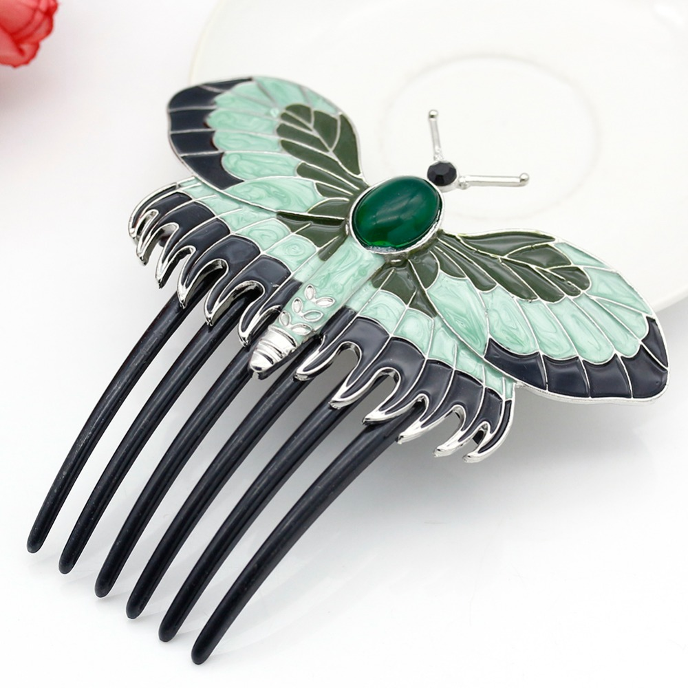 buy titanic rose 39 s hair combs butterfly tiara crystal hair accessories mujer. Black Bedroom Furniture Sets. Home Design Ideas