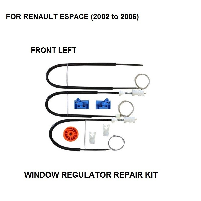 FOR RENAULT ESPACE MK IV 4 ELECTRIC WINDOW REGULATOR REPAIR KIT FRONT LEFT 2002-2006