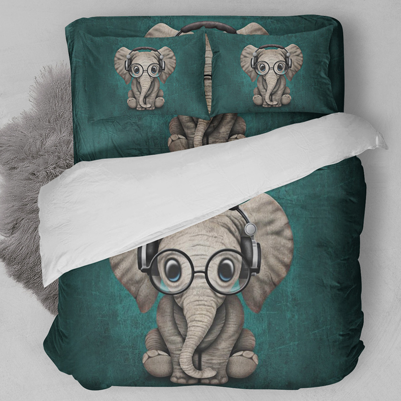 Animal Bedding Set US Twin Full Queen King AU Single Double Elephant Duvet Cover Quilt Cover Bed Cover Pillow Cases Bedclothes