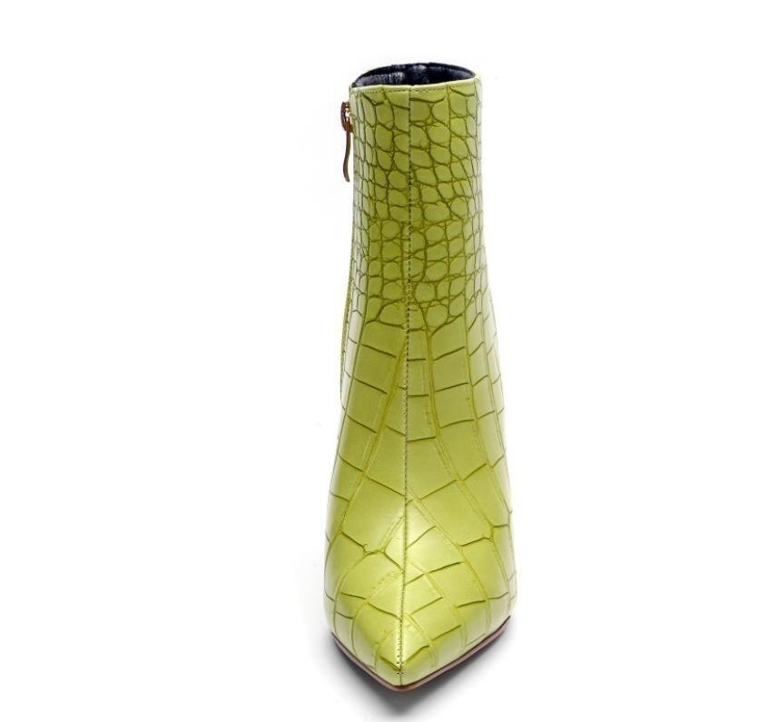 Automne De Fer Hauts Vert Chaussures» Mode Dames Grand Aiguilles Commerce Bottes Talons Mode TR6arR