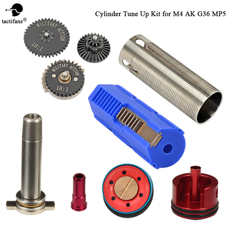 TACTIFANS Tune Up kit 18 1 Gear Set Cylinder Piston head Spring Guide Nozzle 7 Teeth