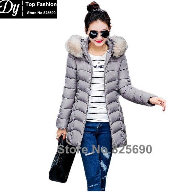Fur Hooded Padded Winter Jackets For Women Fashion Thick Down Parka  Women's Winter Jacket Coat  Female Water Proof Jacket
